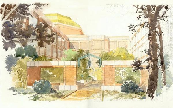 清华大学建筑设计院建筑大师手绘作品赏析